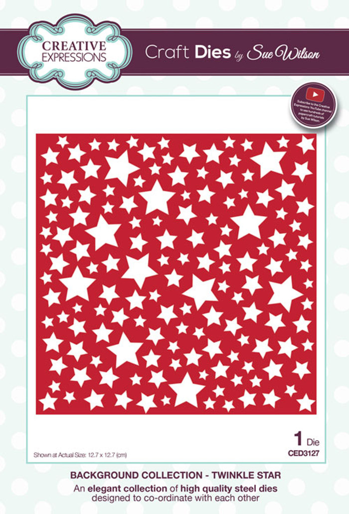 Sue Wilson Background Collection - Twinkle Star CED3127