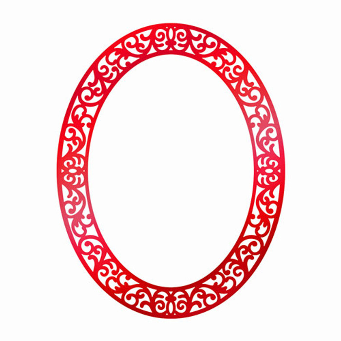Couture Creations Hot Foil Stamp - Ornate Christmas Frame CO725534