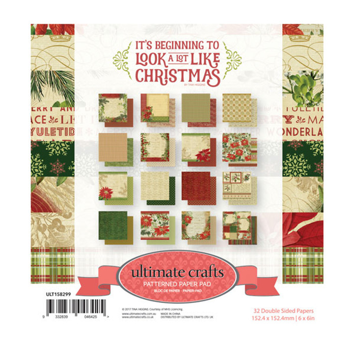 Ultimate Crafts It's Beginning to Look a Lot Like Christmas Paper Pad 6 x 6in ULT158299