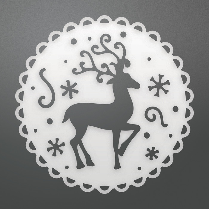 Couture Creations Reindeer Medallion Decorative Die CO725510