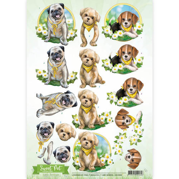 3D Sheet Amy Design  - Sweet Pet - Dogs CD10960