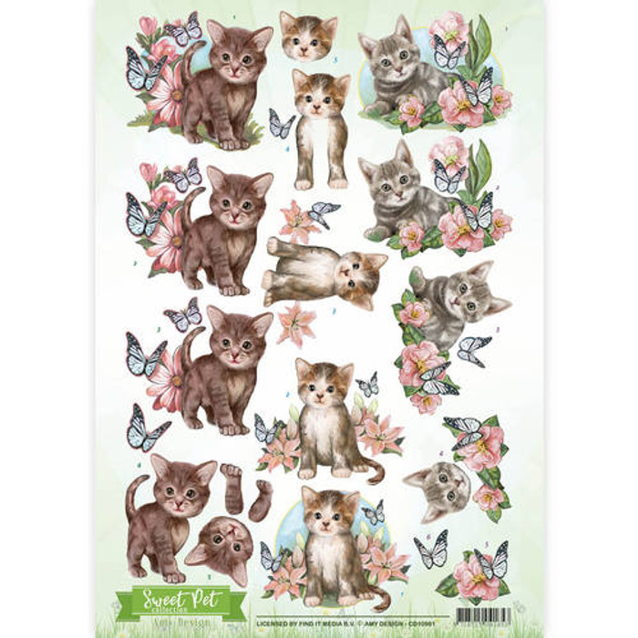 3D Sheet Amy Design  - Sweet Pet - Cats CD10961