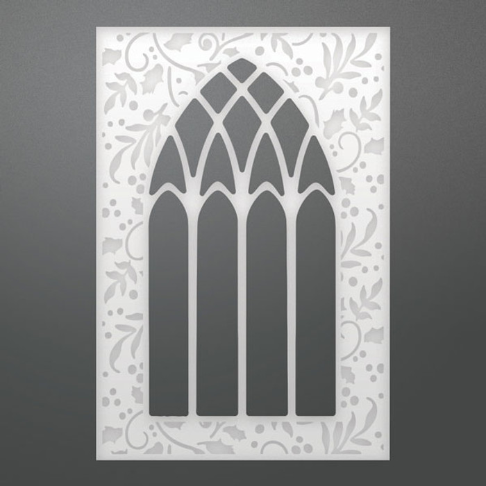 Ultimate Crafts Decorative Die - Stained Glass Background  ULT158328