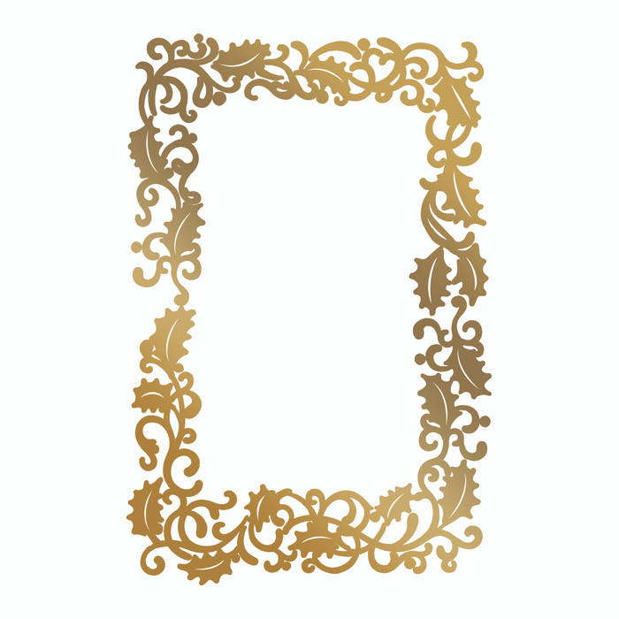 Couture Creations Hotfoil Stamp - Framed Holly CO725577