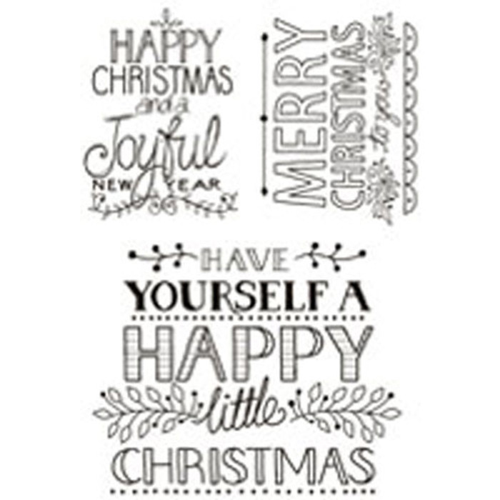 Woodware Clear Stamp Set - Christmas Cheer JGS457