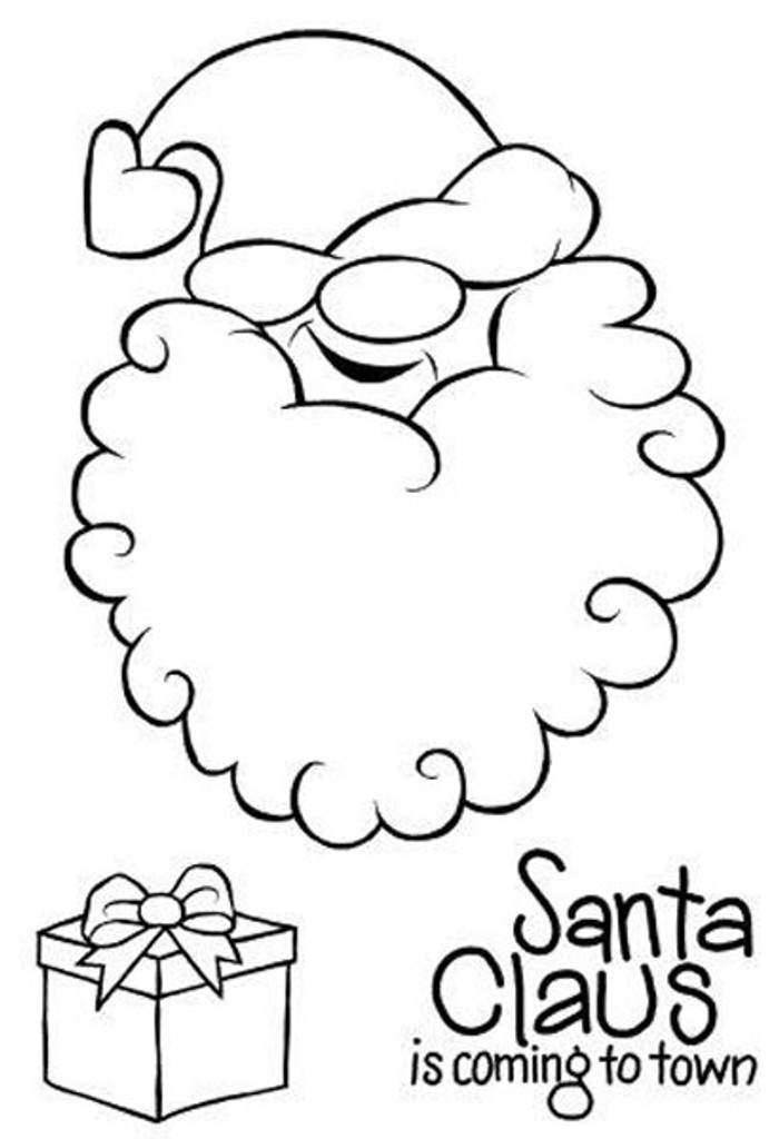 Woodware Clear Stamp Set - Cheeky Santa JGS544