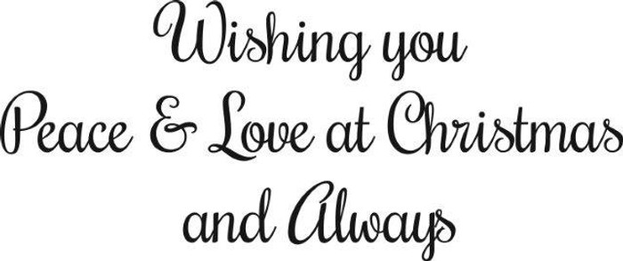 Woodware Clear Stamps - Wishing You Peace & Love at Christmas JWS073