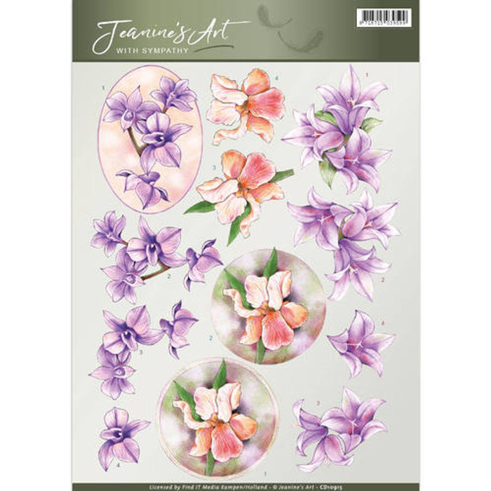 3D Cutting Sheet Jeanines Art - With SYmpathy  CD10915