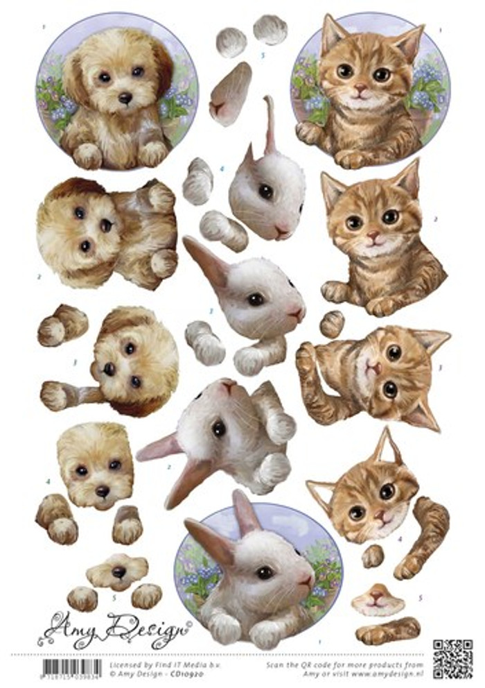 3D Sheet Amy Design  - Cute Animals  CD10920