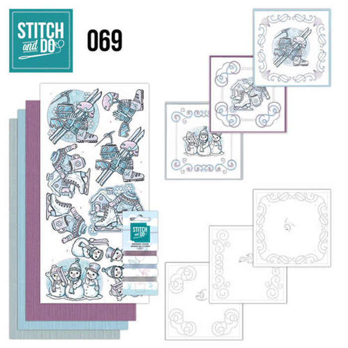 Stitch and Do 69 - Card Embroidery Kit - Winter