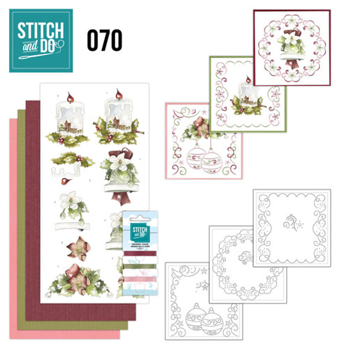Stitch and Do 70 - Card Embroidery Kit - Christmas