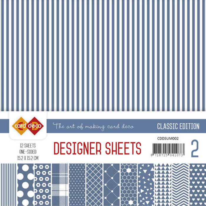 Card Deco Designer Sheets - Classic Edition - Ultramarine