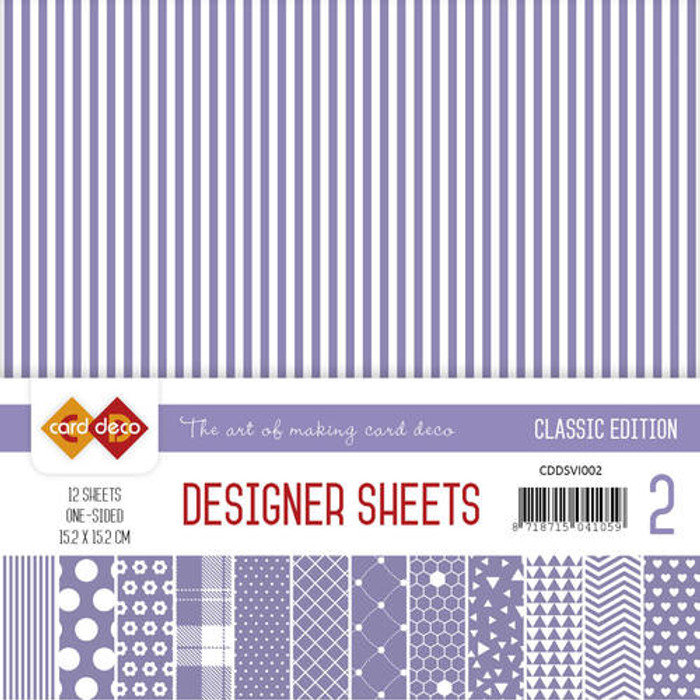 Card Deco Designer Sheets - Classic Edition - Violet