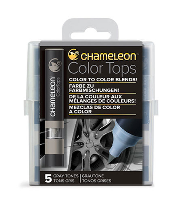 Chameleon 5 Color Tops GRAY TONES Set