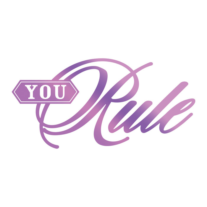 Couture Creations Hotfoil Stamp Everyday Sentiments  - You Rule CO725824