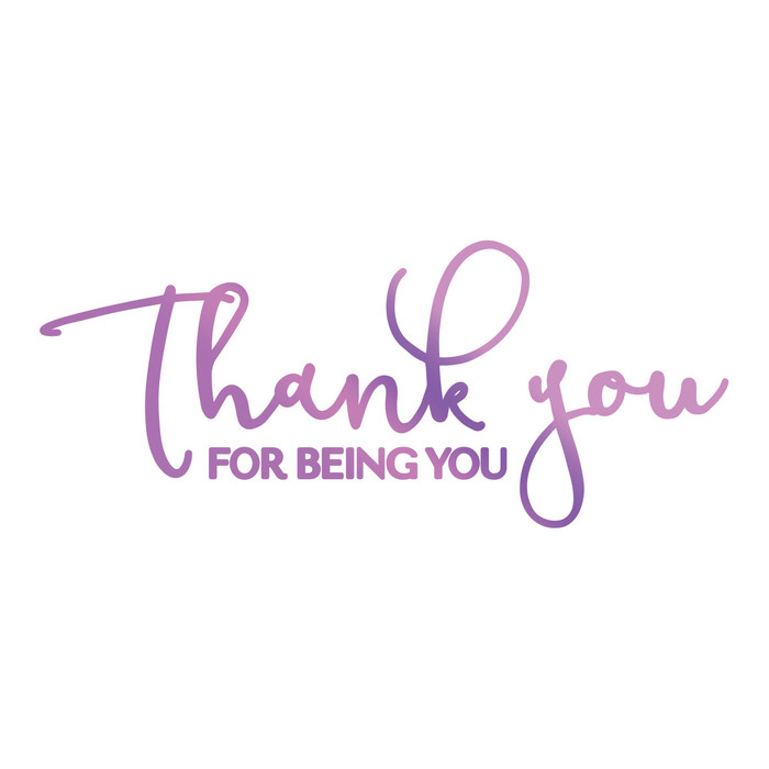 Couture Creations Hotfoil Stamp Everyday Sentiments  - For Being You CO725828