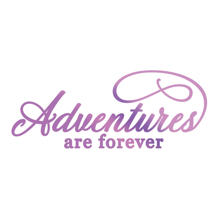 Couture Creations Hotfoil Stamp Everyday Sentiments  - Adventures Are Forever CO725829