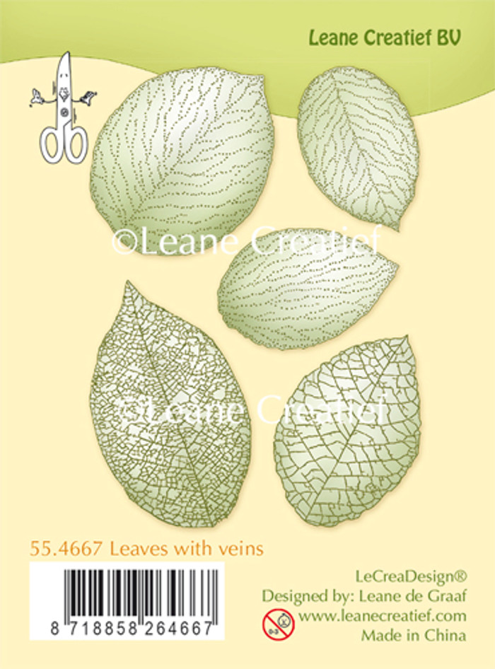 Leanne Creatief  Clear Stamps - Leaves with Veins LCR55.4467