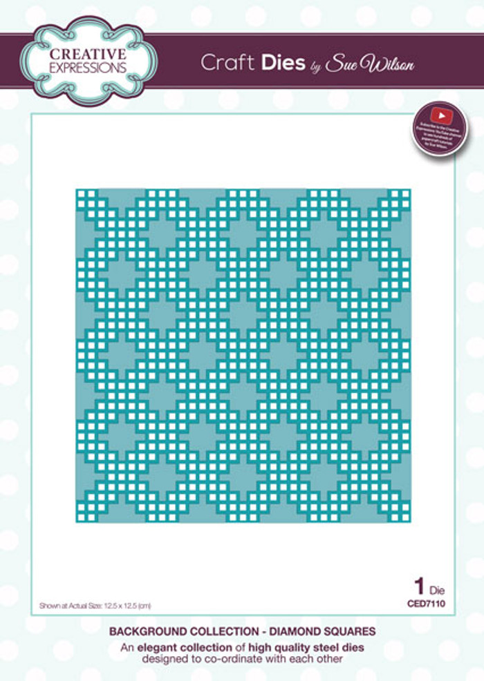 Sue Wilson Background Collection Dies - Diamond Squares CED7110