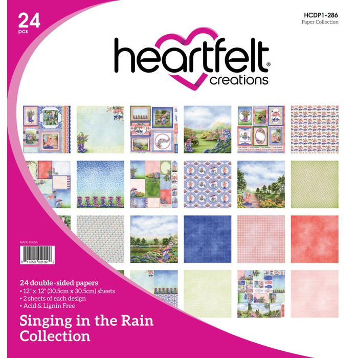 Heartfelt Creations Singing in the Rain Paper Pack