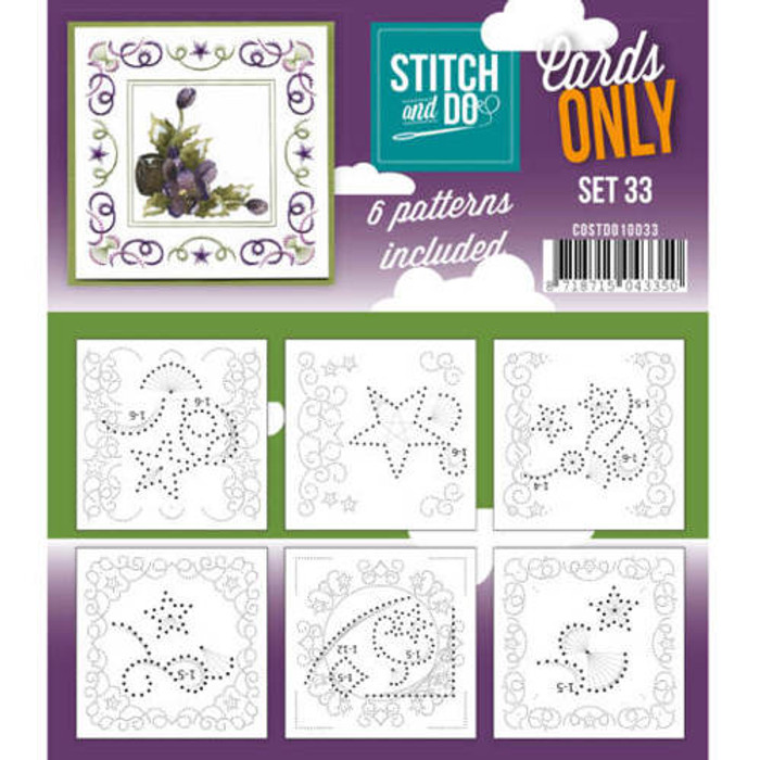 Stitch and Do Card Stitching Cardlayers Only - Set 33