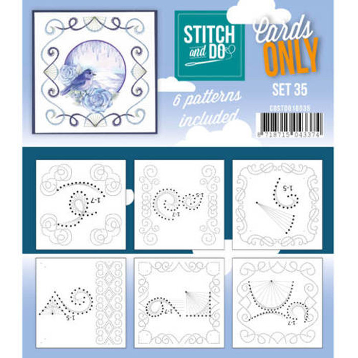 Stitch and Do Card Stitching Cardlayers Only - Set 35 (COSTDO10035)
