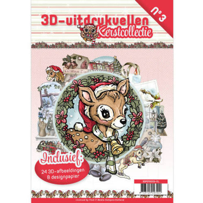 3D Die-Cut Book Card Deco #3  - Christmas Collection