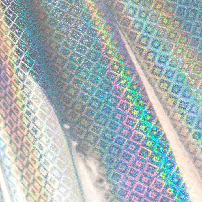 Couture Creations Heat Activated SILVER Foil (Iridescent Diamond Finish) - 125mm x 5m CO726040