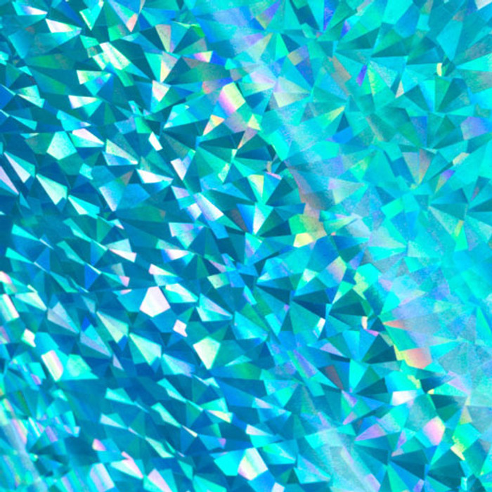 Couture Creations Heat Activated CYAN Foil (Iridescent Triangular Finish) CO726050
