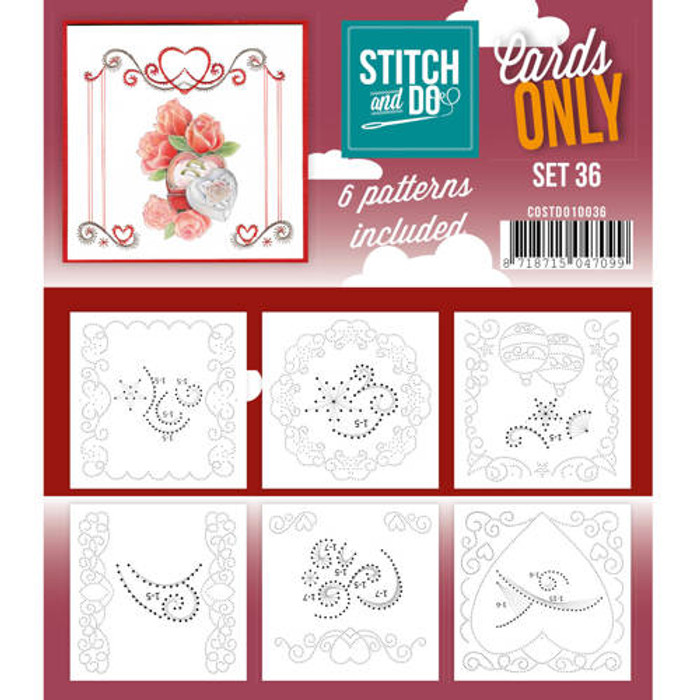 Stitch and Do Card Stitching Cardlayers Only - Set 36