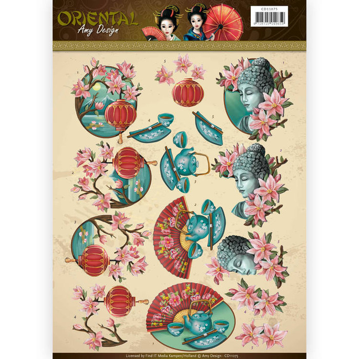 3D Sheet Amy Design  Oriental - Culture CD11075