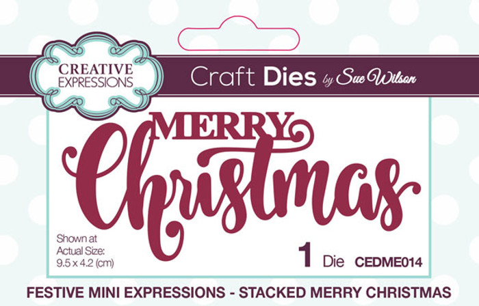 Sue Wilson Festive Collection - Stacked Merry Christmas CEDME014