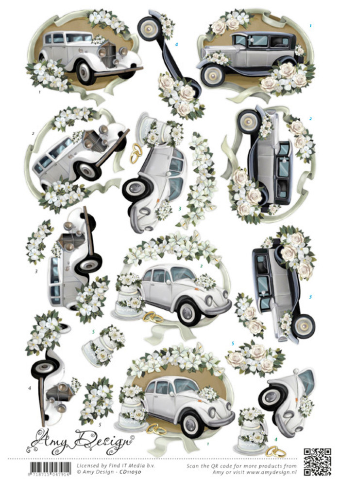 3D Cutting Sheet  Amy Design  - Wedding Cars SB11050
