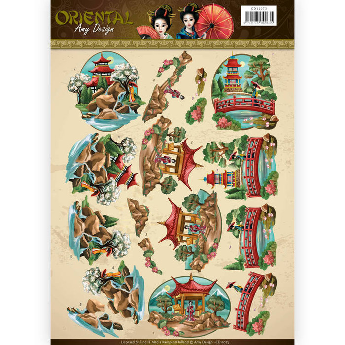 3D  Sheet  Amy Design  - Oriental - Landscapes CD11073