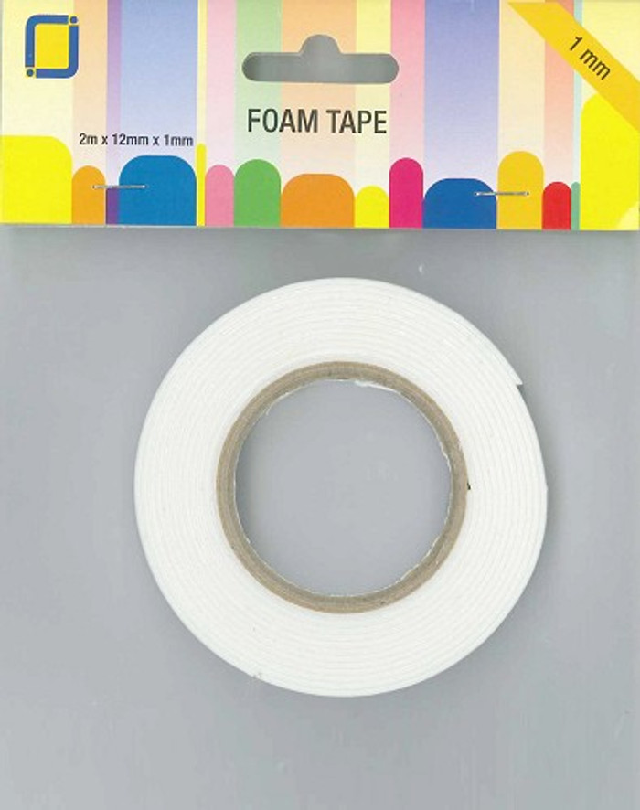 JeJe Foam Tape Roll   - 12mm x 2m x 1mm