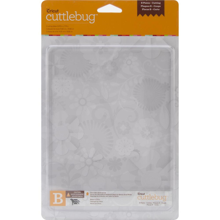 "Cuttlebug Spacer Plate B - 6"" x 7"" - Set of 2 (37-1258)"