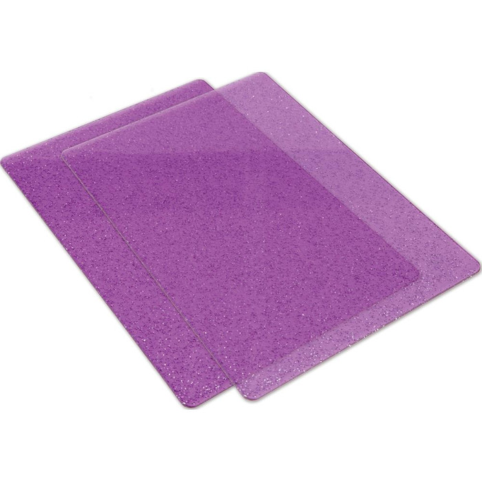 Big Shot Standard Cutting Pads 1 Pair - Purple with Silver Glitter (662142)