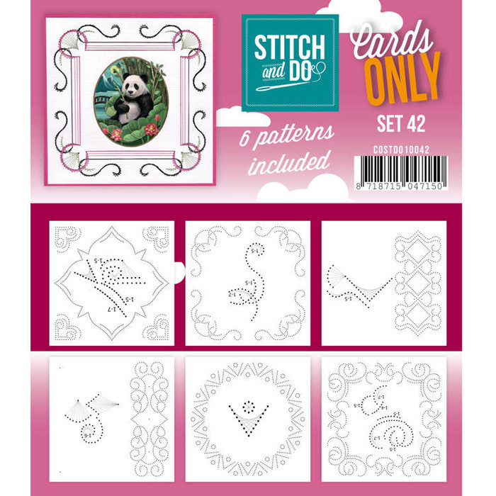 Stitch and Do Card Stitching Cardlayers Only - Set 42