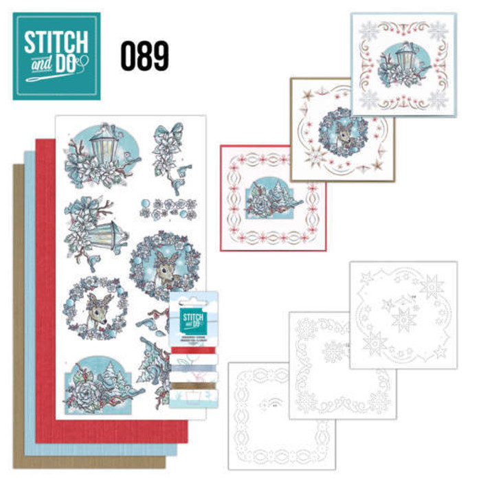Stitch and Do 89 - Card Embroidery Kit - Christmas Dreams