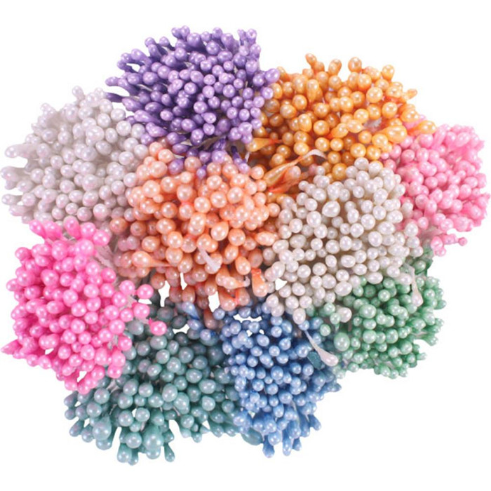 Heartfelt Creations Assorted Pastel Pearl Stamens - Small 1mm