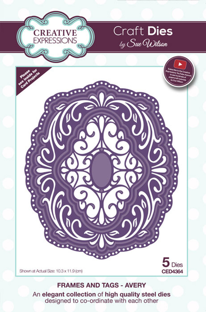 Sue Wilson Frames & Tags Collection Die - Avery CED4364
