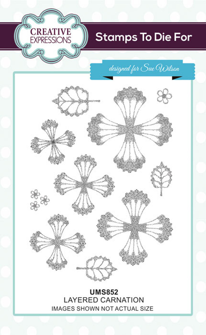 Sue Wilson Stamps To Die For - LAYERED CARNATION UMS852