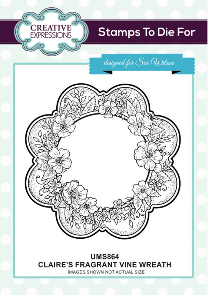 Sue Wilson Stamps To Die For - CLAIRE'S FRAGRANT VINE WREATH UMS864