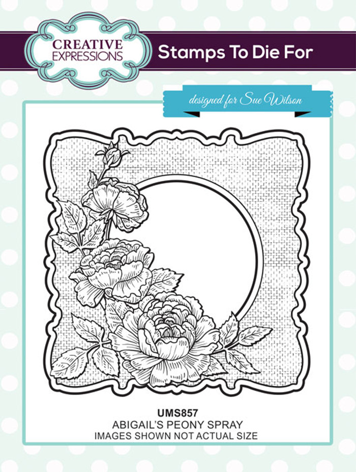 Sue Wilson Stamps To Die For - ABIGAIL'S PEONY SPRAY UMS857