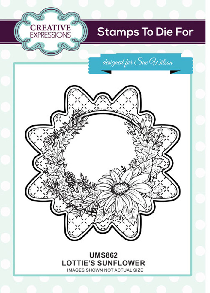 Sue Wilson Stamps To Die For - LOTTIE'S SUNFLOWER UMS862