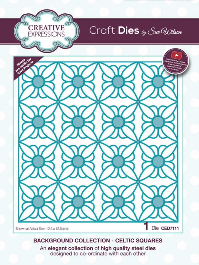 Sue Wilson Background Collection - Celtic Squares CED7111