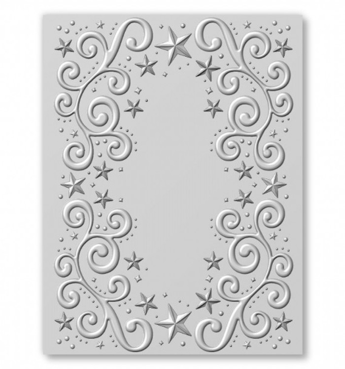 "Sue Wilson 3D Embossing Folder 5 3/4"" x 7 1/2"" - Twinkle Swirls"
