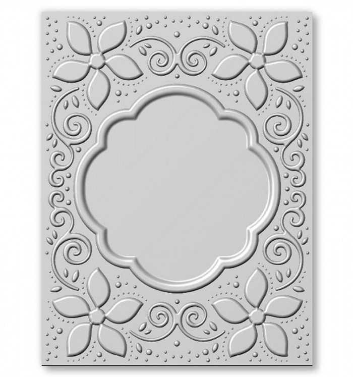 "Sue Wilson 3D Embossing Folder 5 3/4"" x 7 1/2"" - Natalie's Poinsettia"