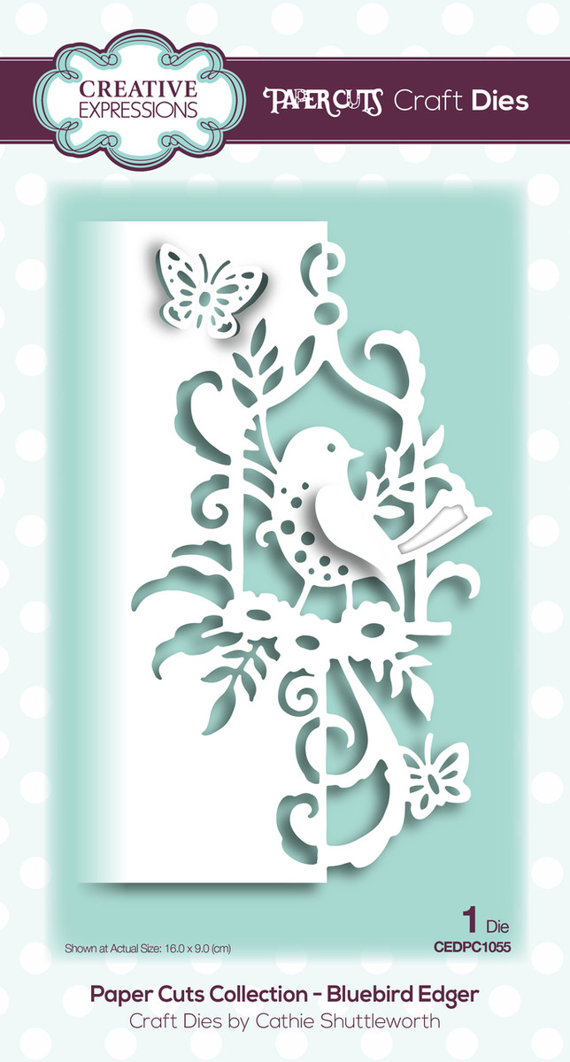 Creative Expressions Paper Cuts Collection Die - Bluebird Edger CEDPC1055
