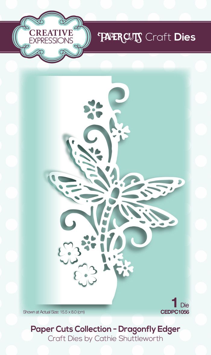Creative Expressions Paper Cuts Collection Die - Dragonfly Edger CEDPC1056